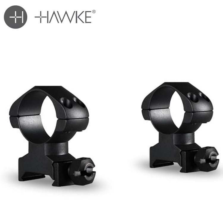 Hawke Precision Steel Ring Mounts For Weaver Picatinny
