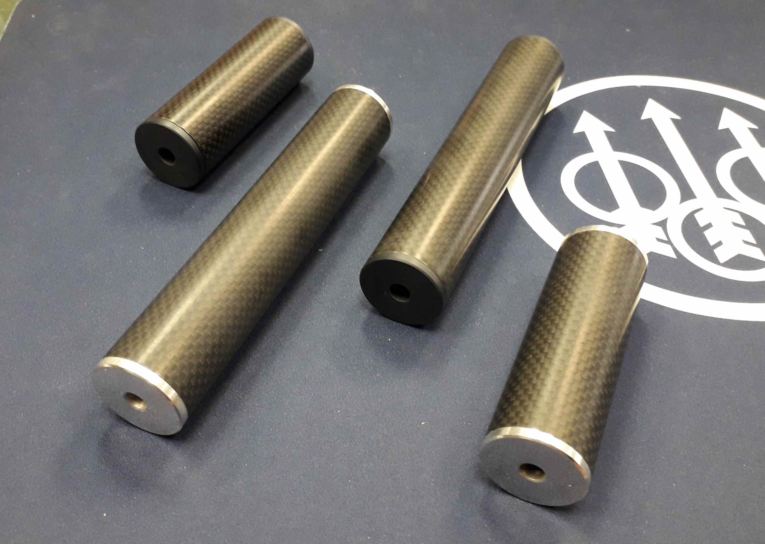 Custom Carbon Designs Airgun Sound Moderator / Silencers