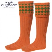 House of Cheviot Chessboard Orange